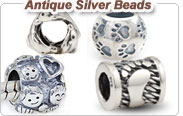 European silver antique beads charms