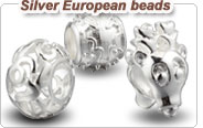 sterling silver European beads