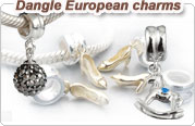 European style dangle beads
